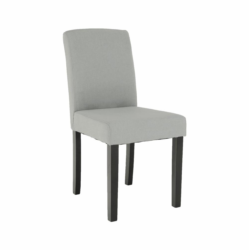 Jedálenská stolička, svetlosivá/čierna, SELUNA