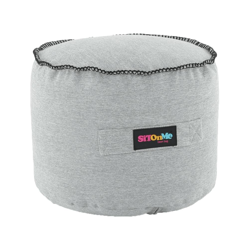Fotoliu tip sac, material textil gri, NUTAN
