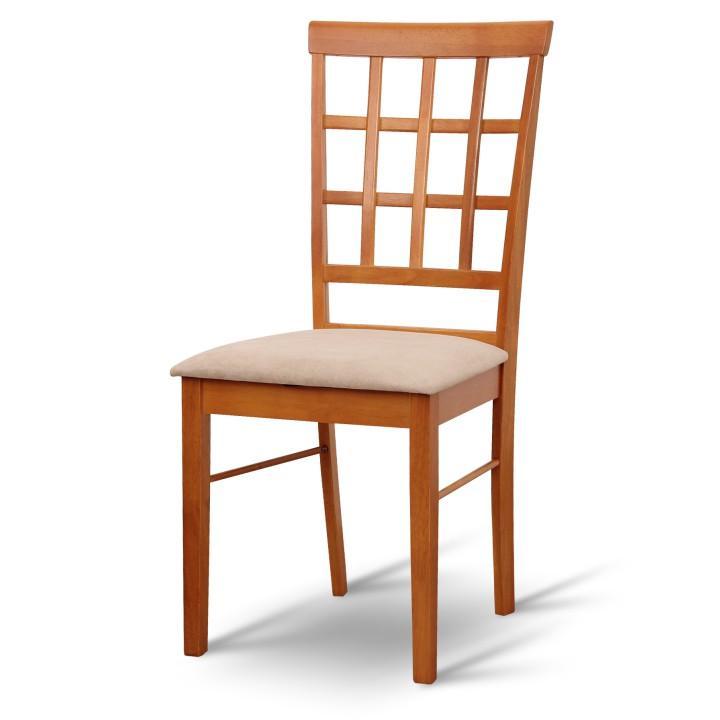 Stolička, čerešňa/látka slabo hnedá, GRID