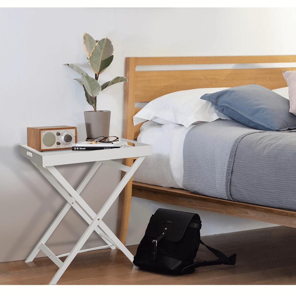 Servírovací stolek, bílá, PATROL