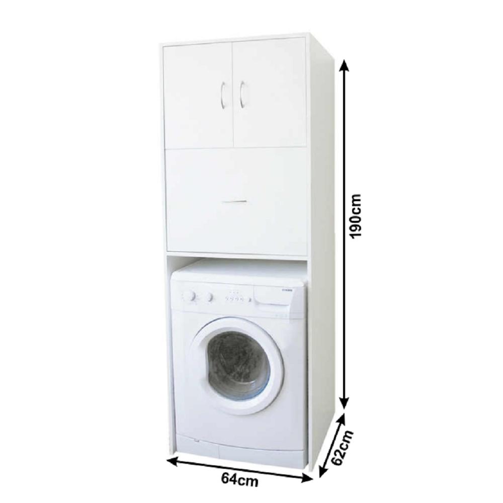 Hluboká skříňka nad pračku, bílá, NATALI TYP 9