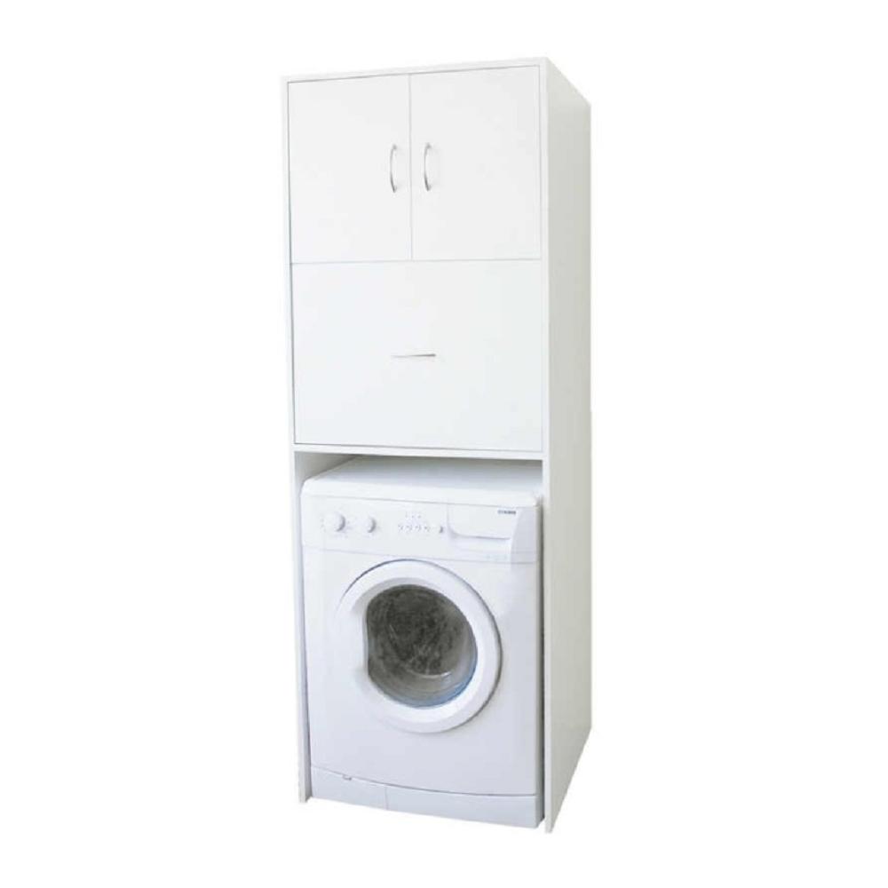 mély szekrény a mosógép fölé, fehér, NATALI TYP 9
