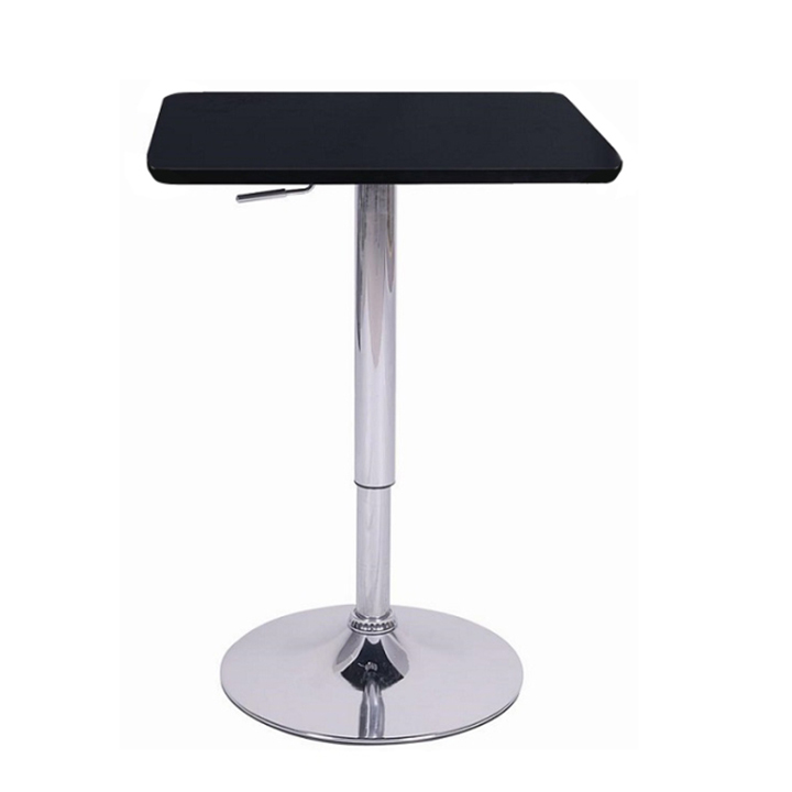 Barový stôl s nastaviteľnou výškou, čierna, 86-105, FLORIAN