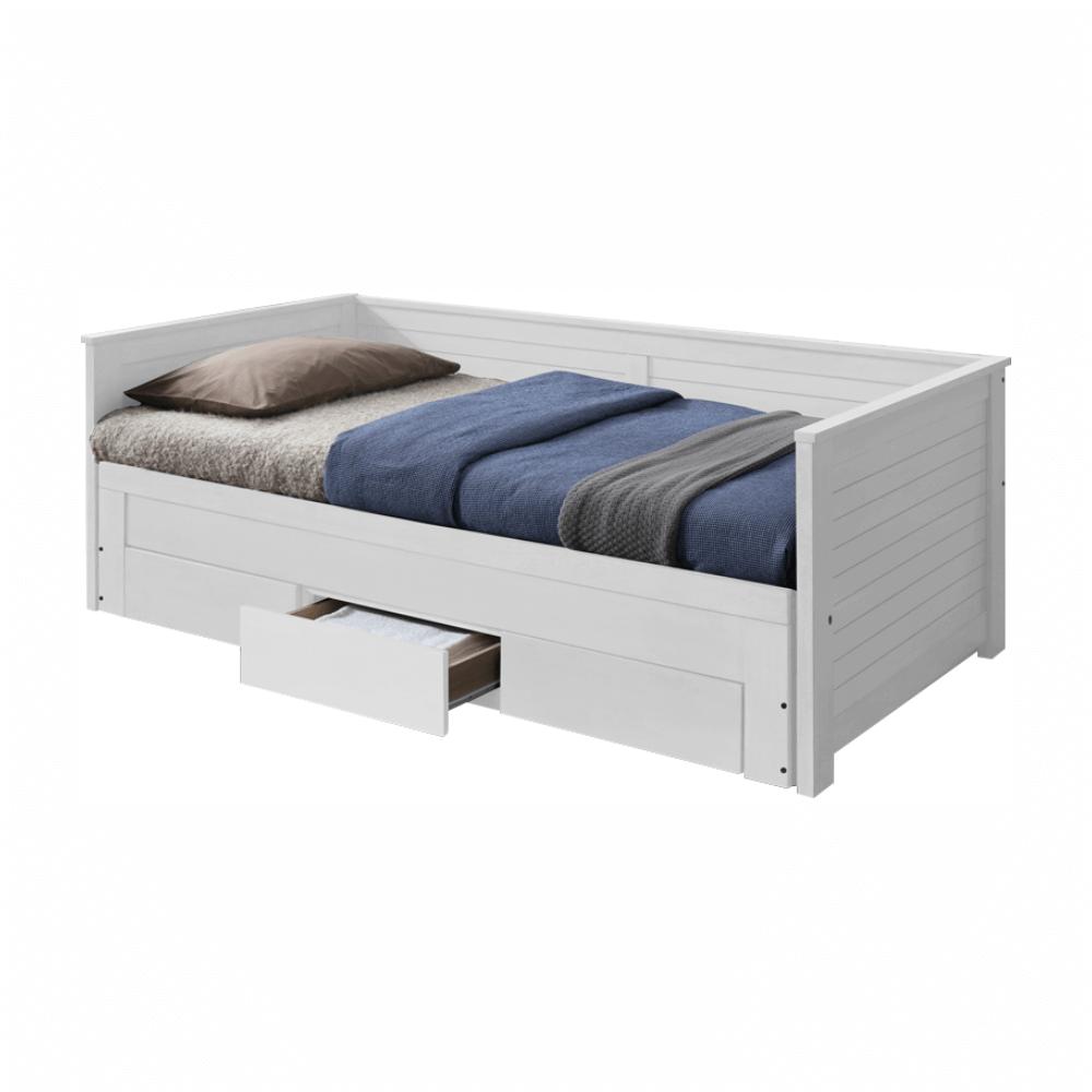 Rozkladacia posteľ, biela, GORETA - lacno