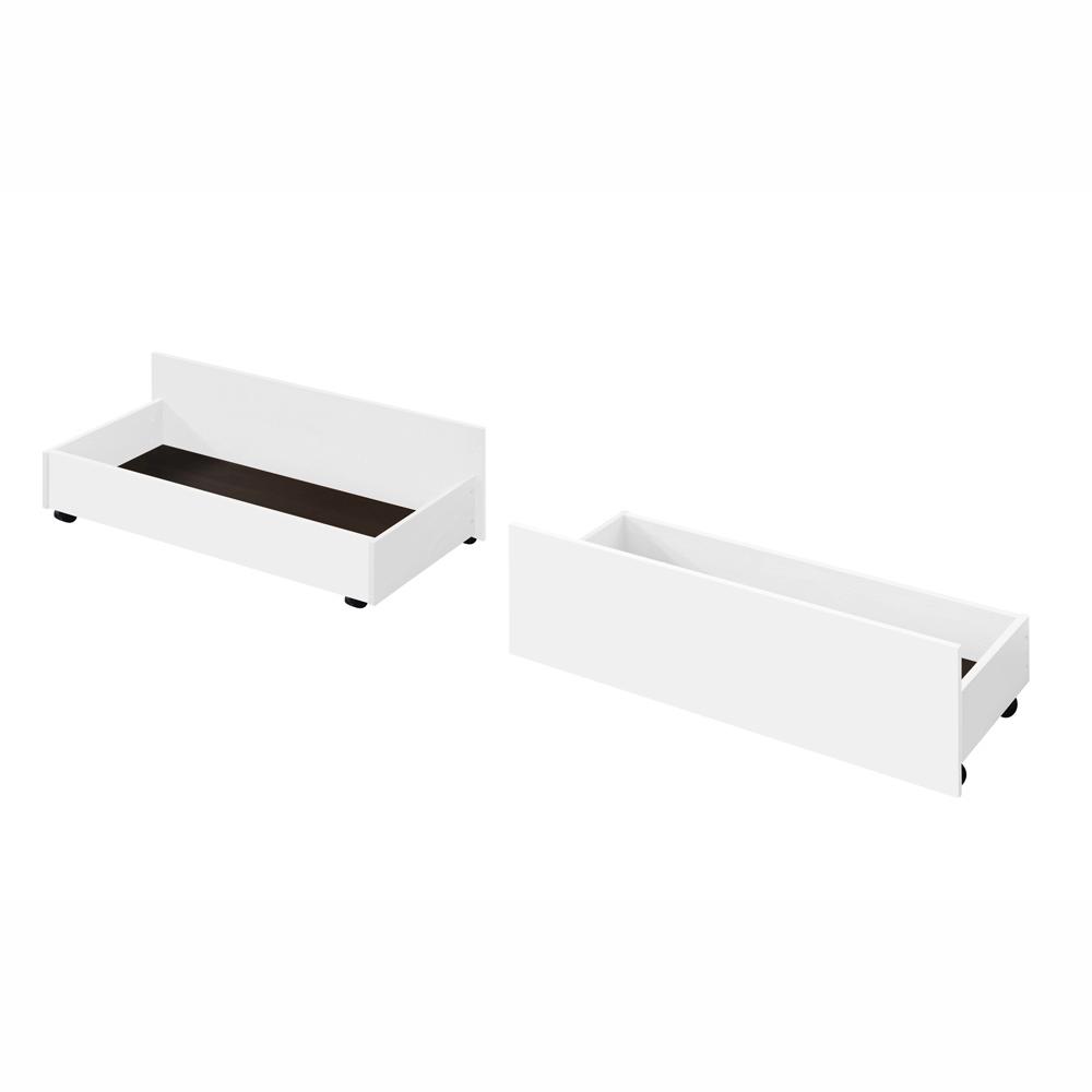 2 kusy, zásuvný kontajner pod posteľ, biela, MIDEA