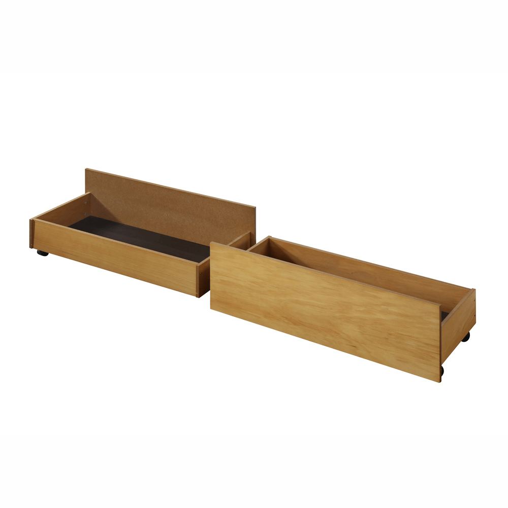 2 darab, kihúzható ágy alatti tároló, tölgy, MIDEA