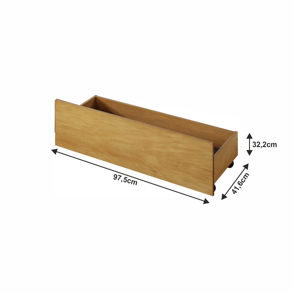 2 kusy, zásuvný kontejner pod postel, dub, MIDEA