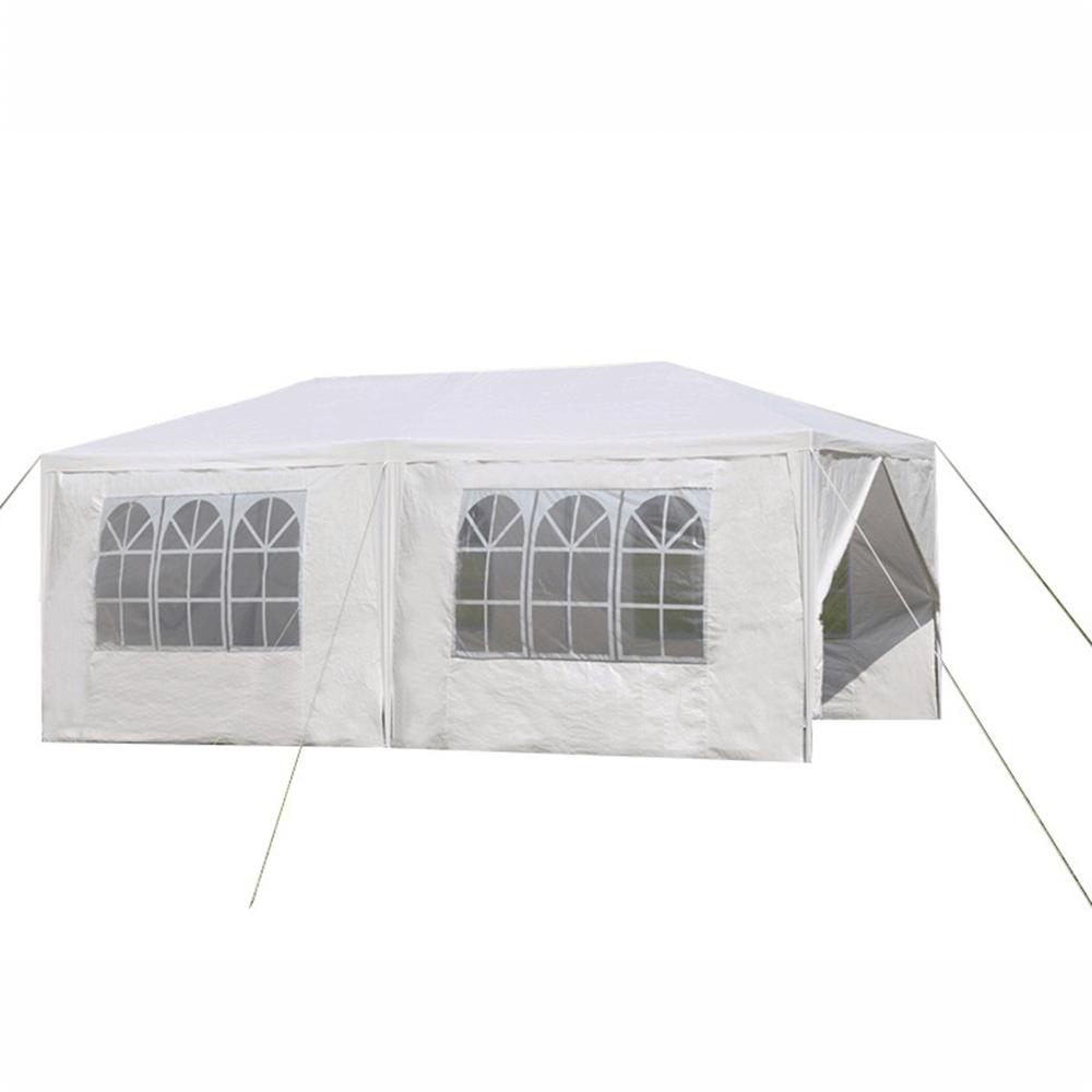 Záhradný párty stan, biela, 3x6 m, TEKNO TYP 2 + 6 bočných strán