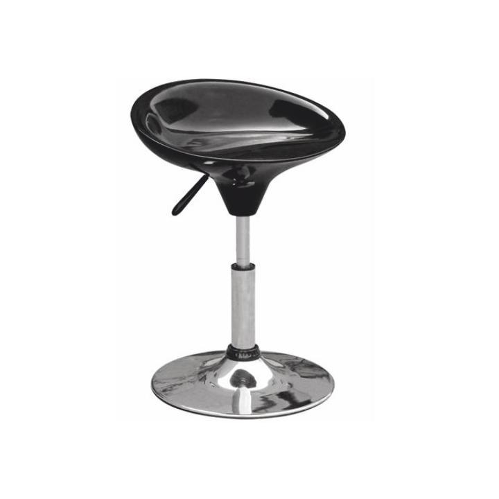 TEMPO KONDELA Stolička, čierny plast, chróm KARMIN - Tempo nábytek