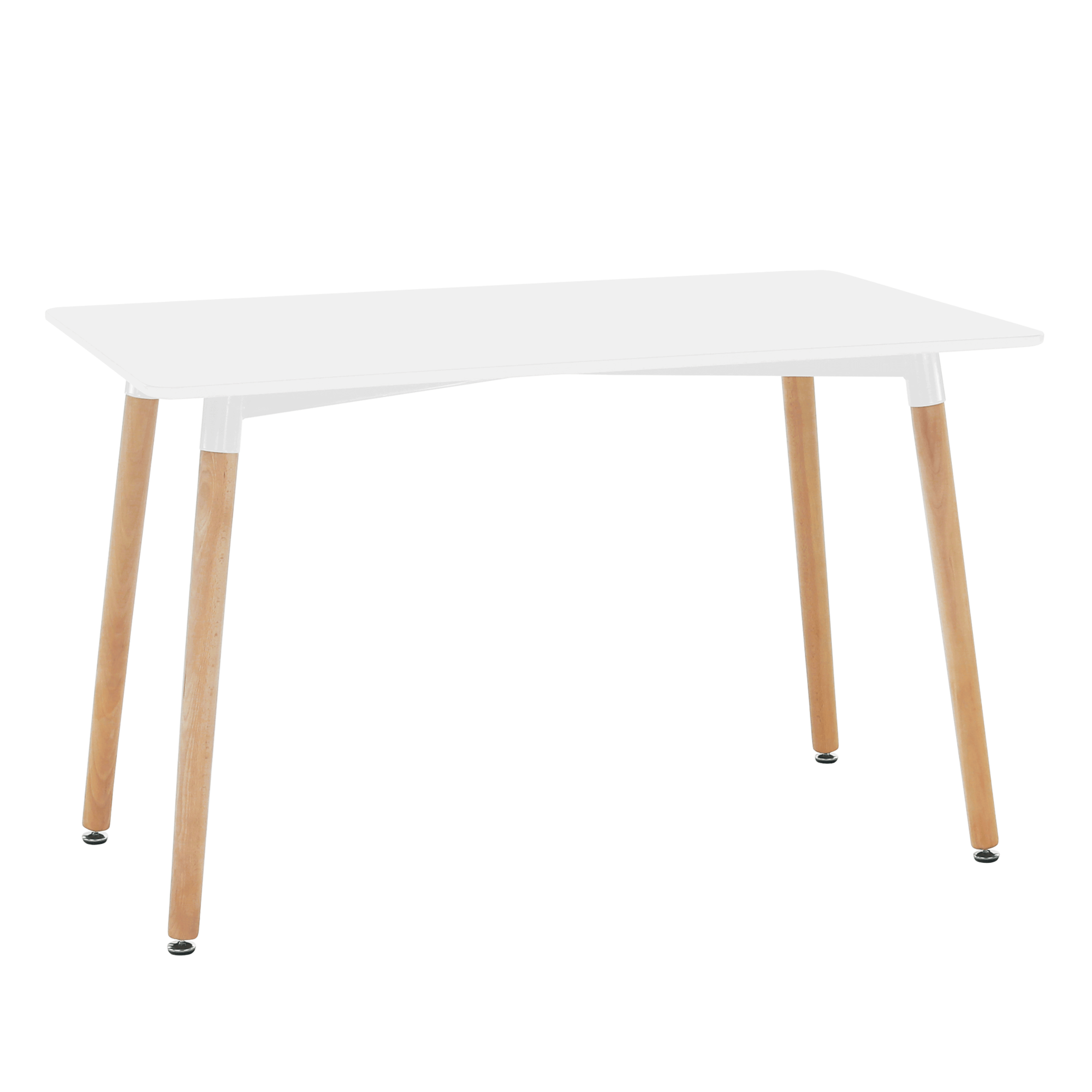 Jedálenský stôl, biela/buk, DIDIER 4 NEW