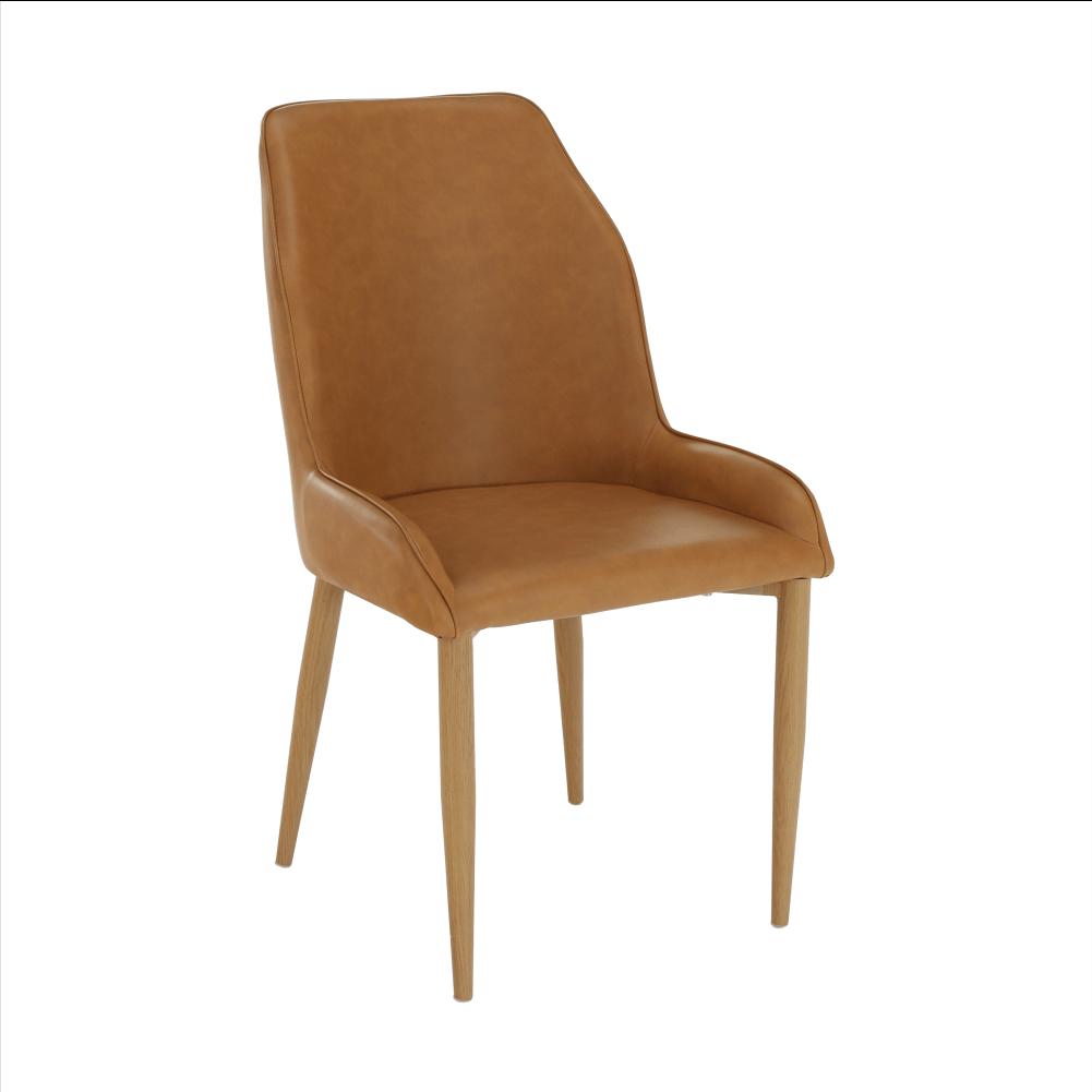 Jedálenská stolička, hnedá camel/buk, IMPERIA