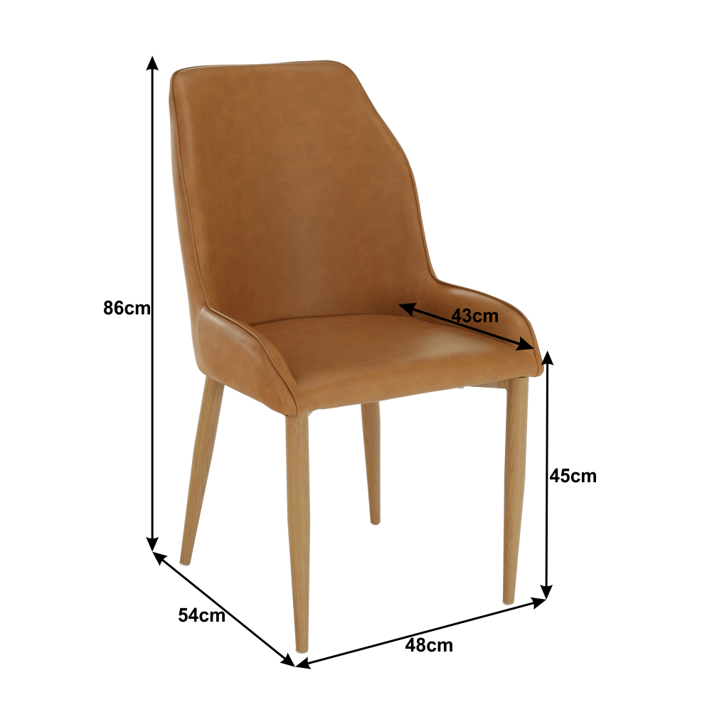 Jídelní židle, camel / buk, IMPERIA