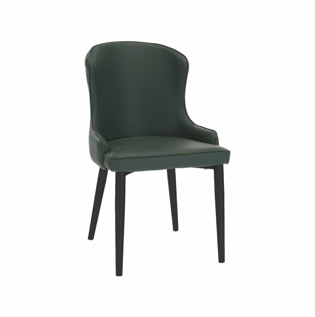 Jedálenská stolička, zelená/čierna, SIRENA