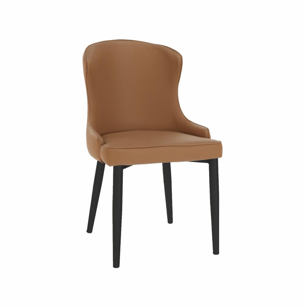 Jedálenská stolička, hnedá/čierna, SIRENA