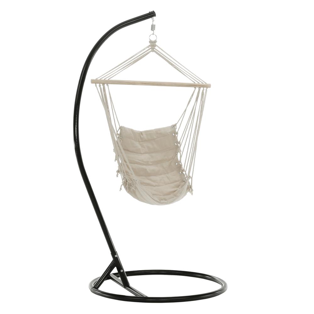 Scaun balansoar suspendabil, alb, PLATO NEW