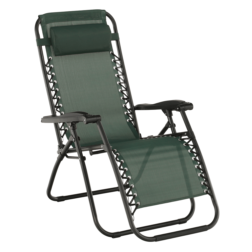 Állítható kerti szék, zöld, GERALD