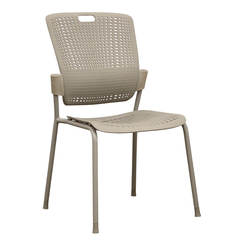 Stohovateľná stolička, sivá, NERGIS