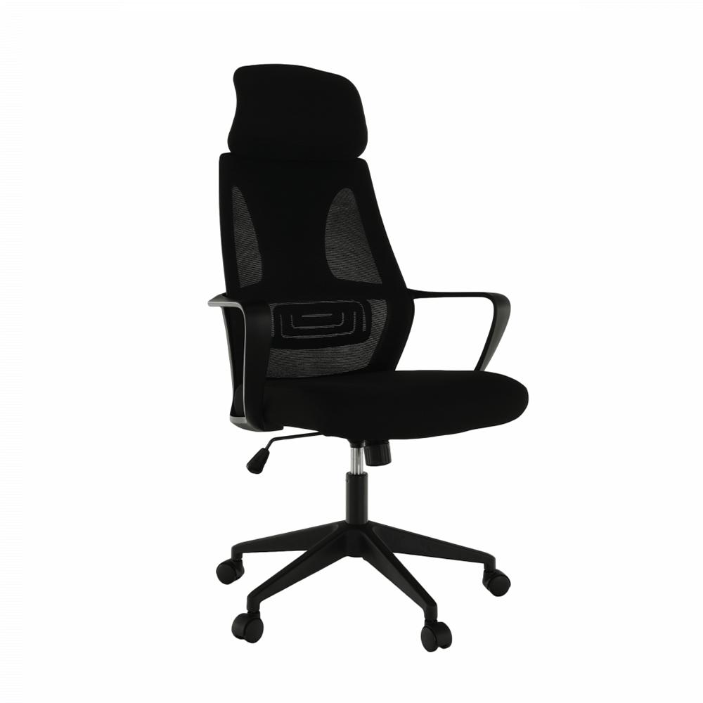 Kancelárske kreslo, čierna látka, TAXIS