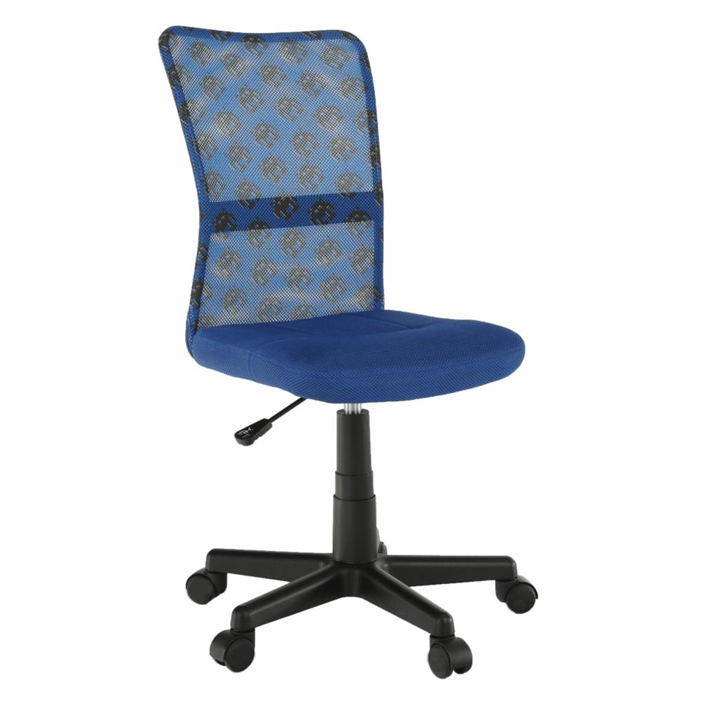 Otočná stolička, modrá/vzor/čierna, GOFY