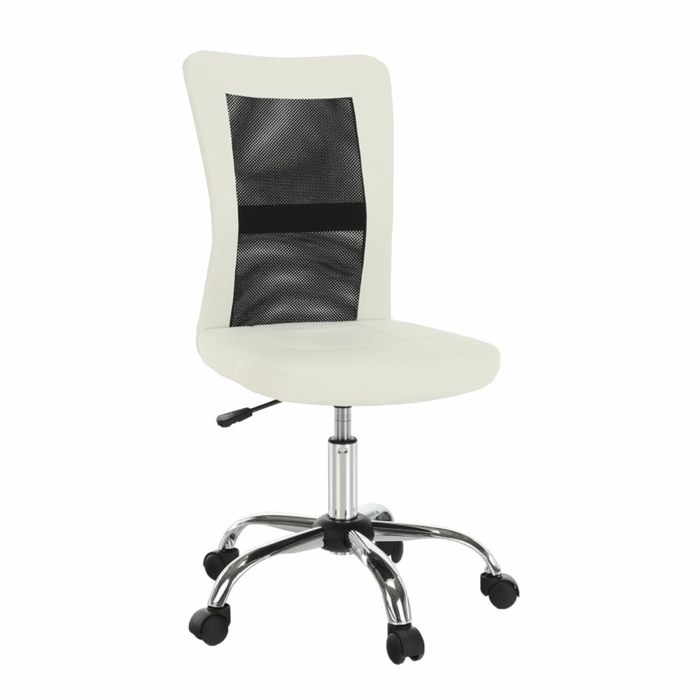 Kancelárske kreslo, čierna/biela, IDOR NEW
