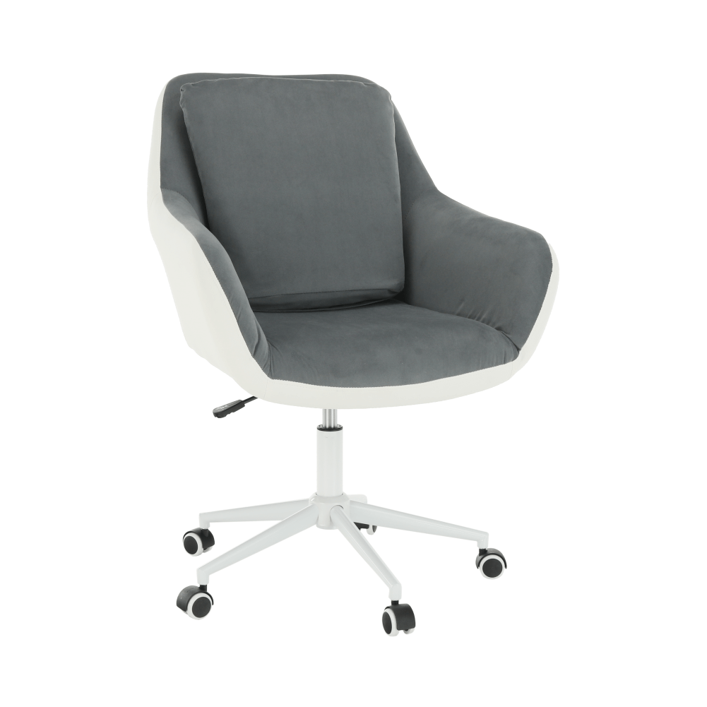 Kancelárske kreslo, biela/sivá, IMELDA