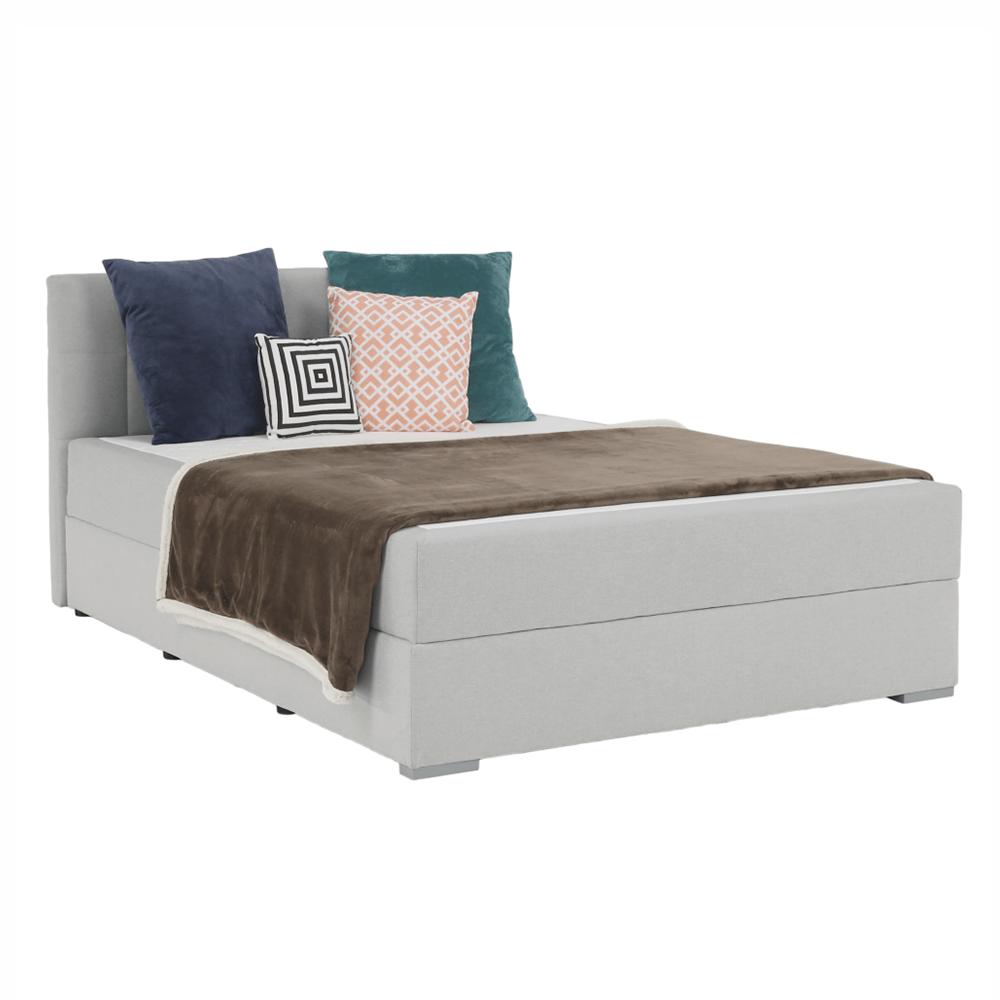Boxspringová postel 120x200, světle šedá, FERATA KOMFORT, TEMPO KONDELA
