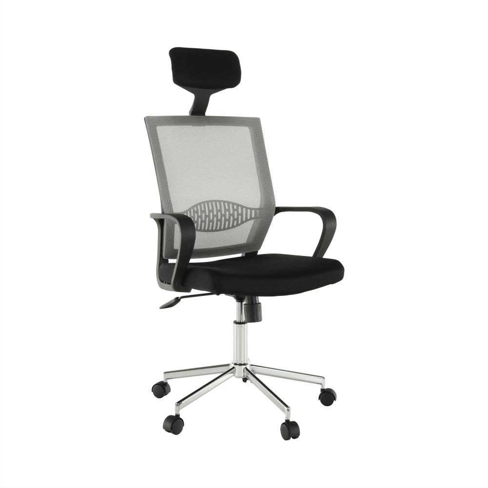 Kancelárske kreslo, svetlosivá/čierna, DAKIN