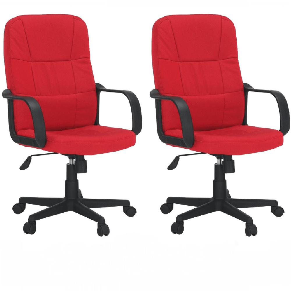 2 kusy, kancelárske kreslo, červená, TC3-7741 New