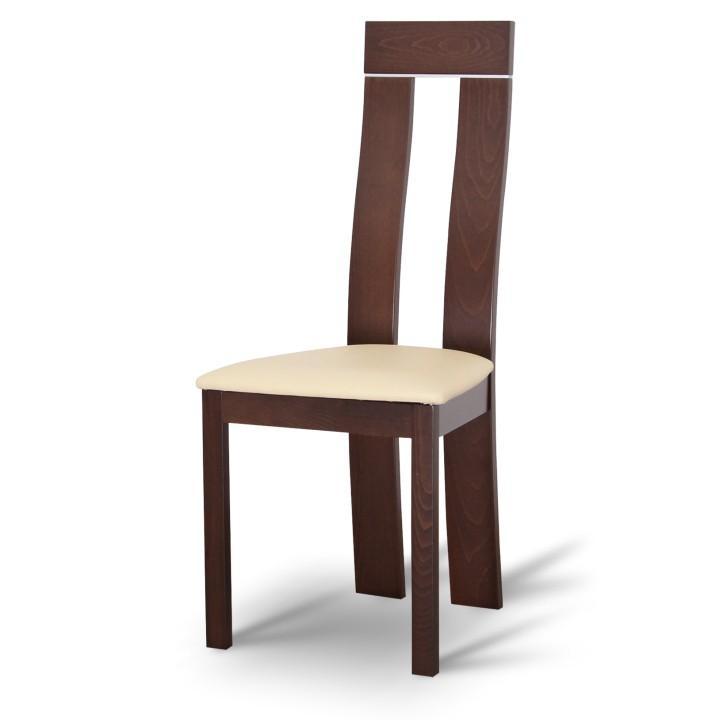 Magas étkező szék, dió/krémszínű textilbőr, DESI
