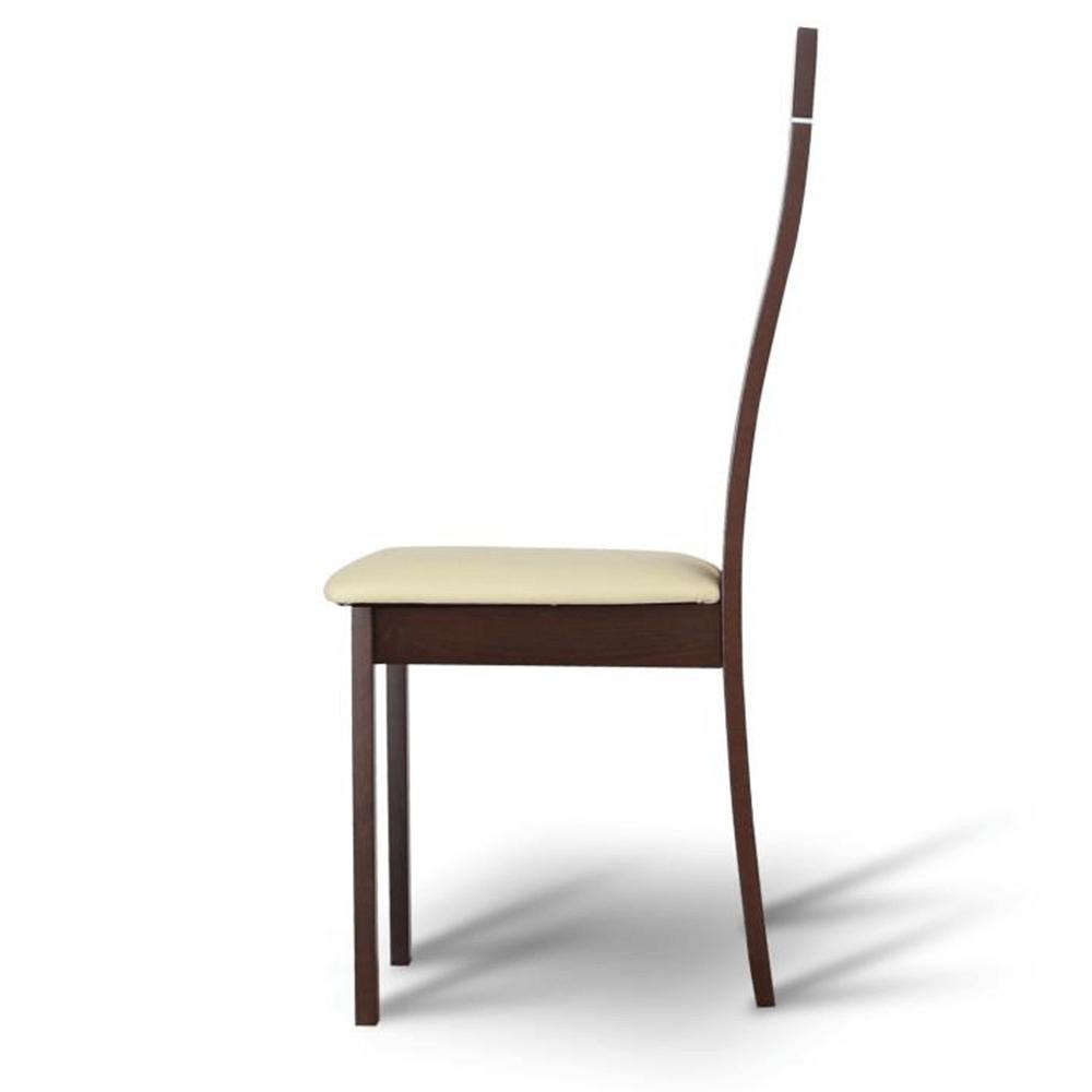 Dřevěná židle, ořech / ekokůže béžová, DESI, TEMPO KONDELA
