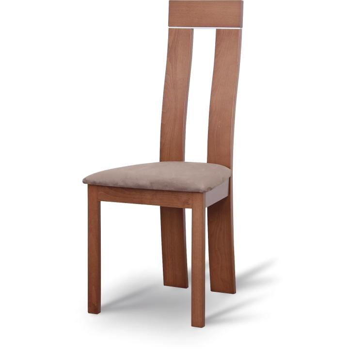 TEMPO KONDELA Drevená stolička, čerešňa/látka hnedá, DESI - Tempo nábytek