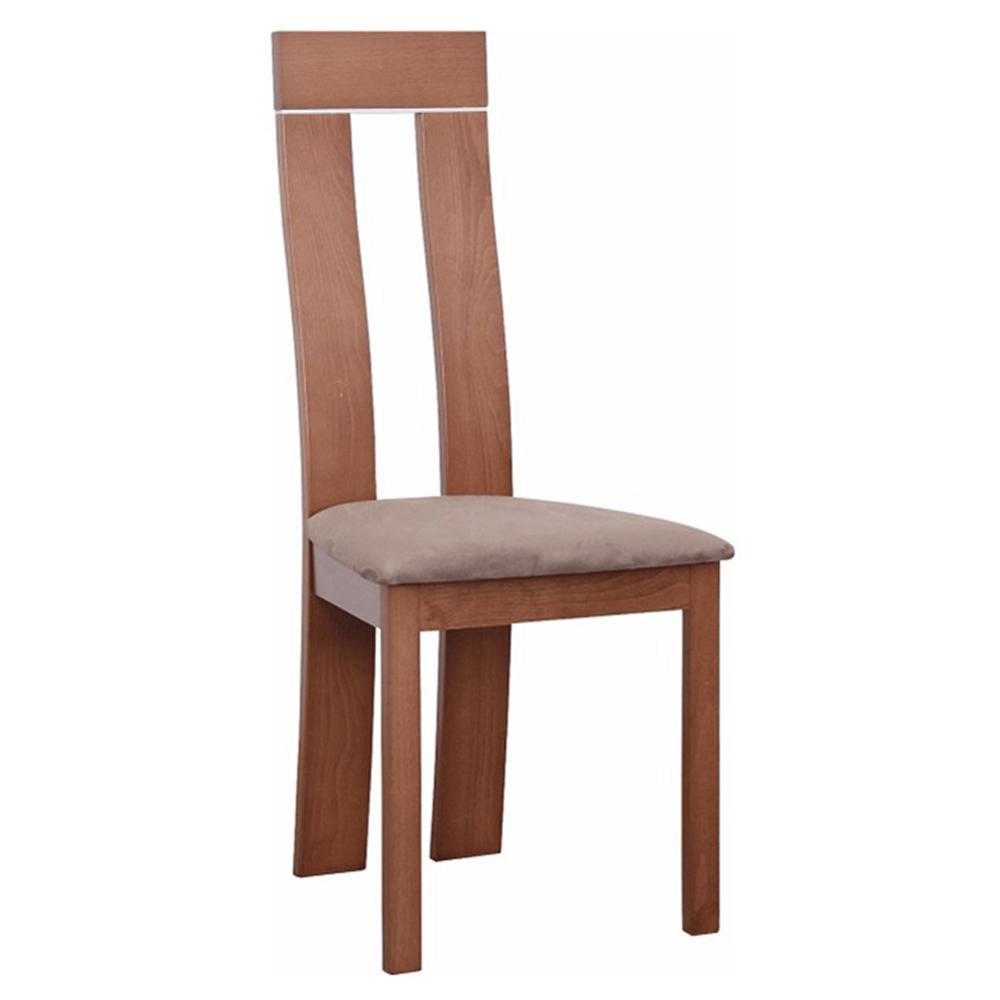 Drevená stolička, čerešňa/látka hnedá, DESI