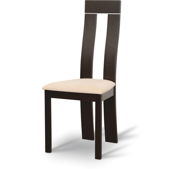 Magas étkező szék,wenge/krémszínű, DESI