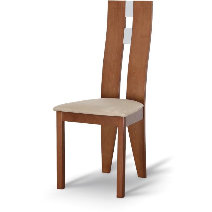 Magas étkező szék,cseresznye/barna szövet, BONA