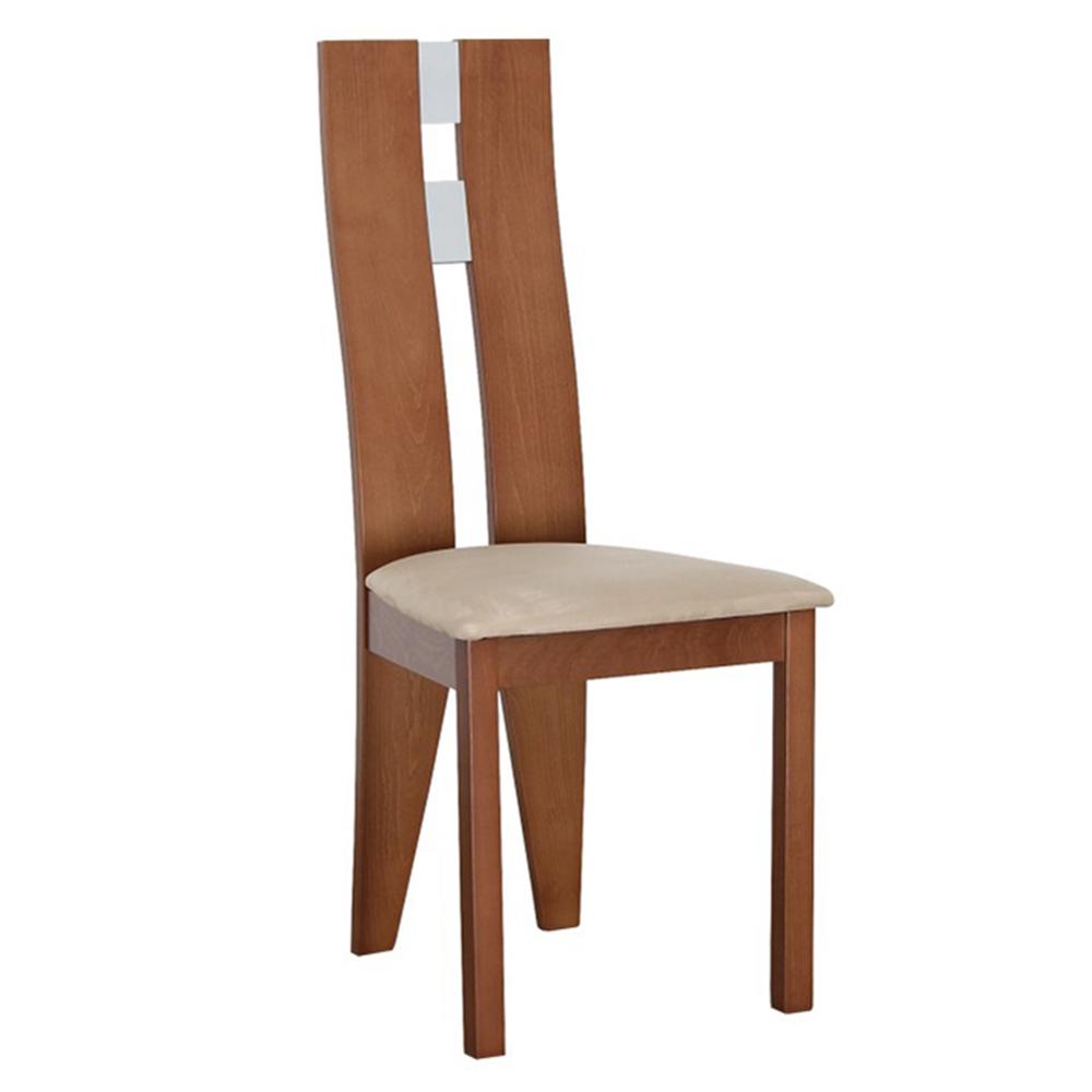 Scaun lemn, cireş/material bej, BONA
