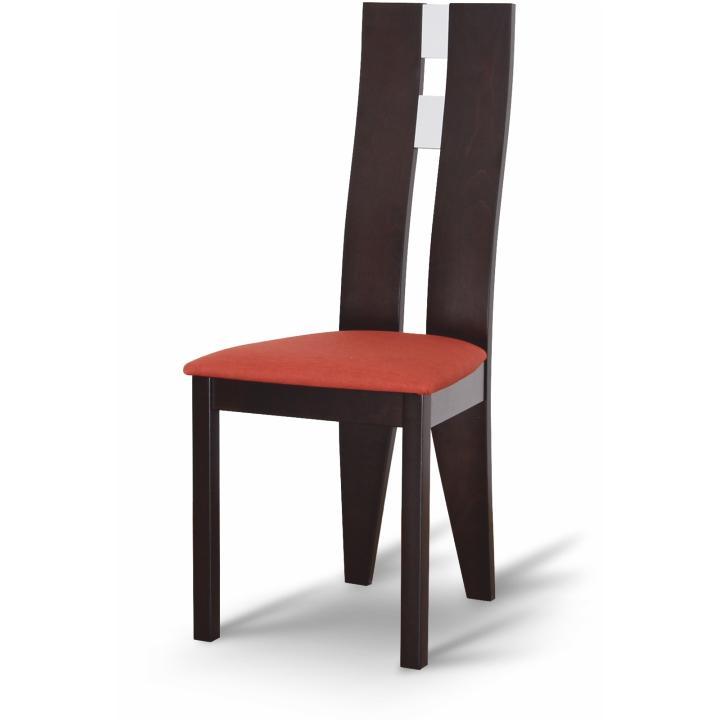 Magas étkező szék,wenge/terakotta szövet, BONA