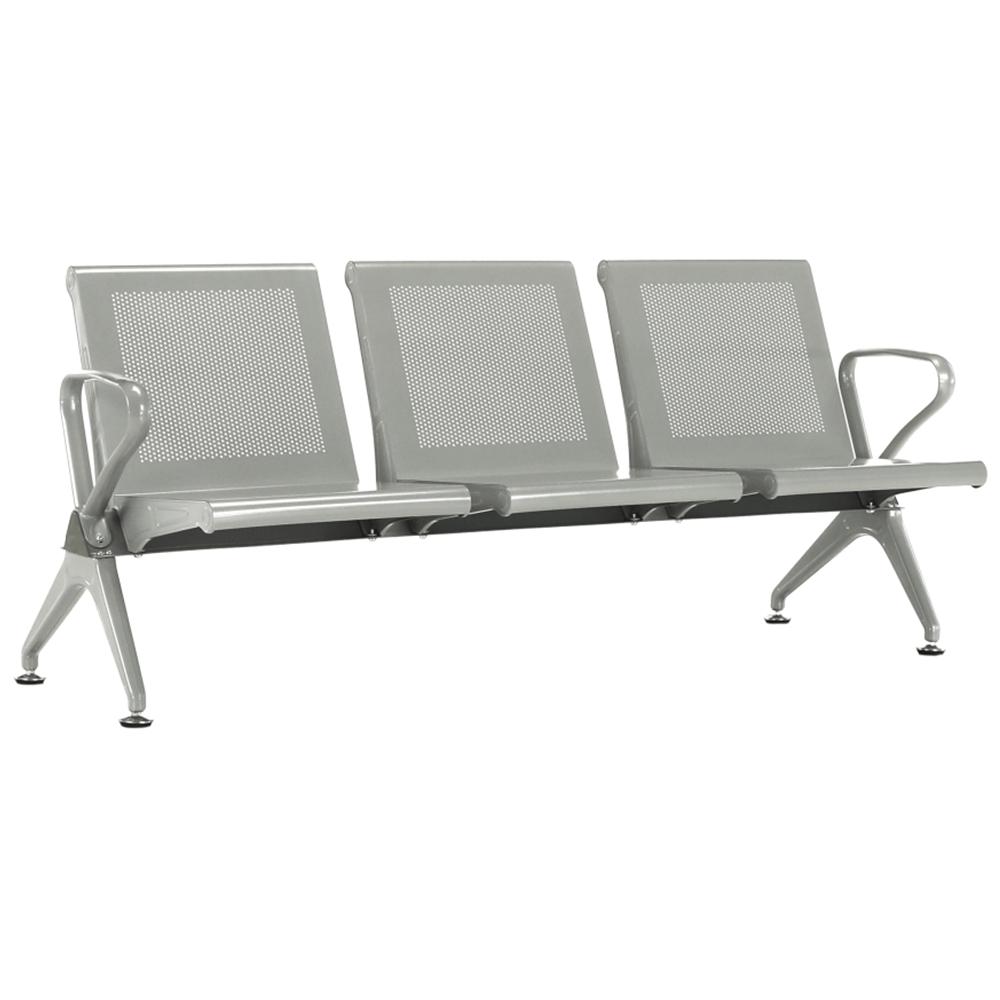 3-miestna lavica do čakárni, strieborná, KULIA