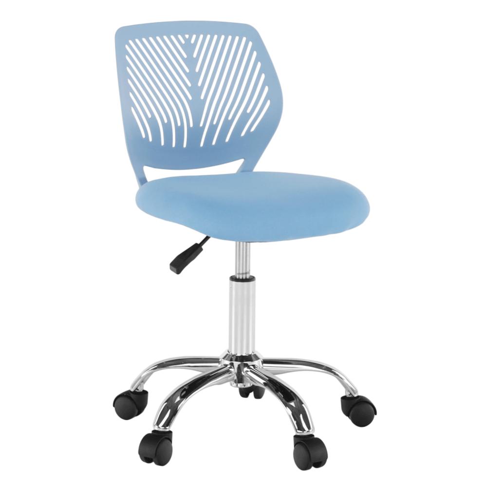 Otočná stolička, modrá/chróm, SELVA