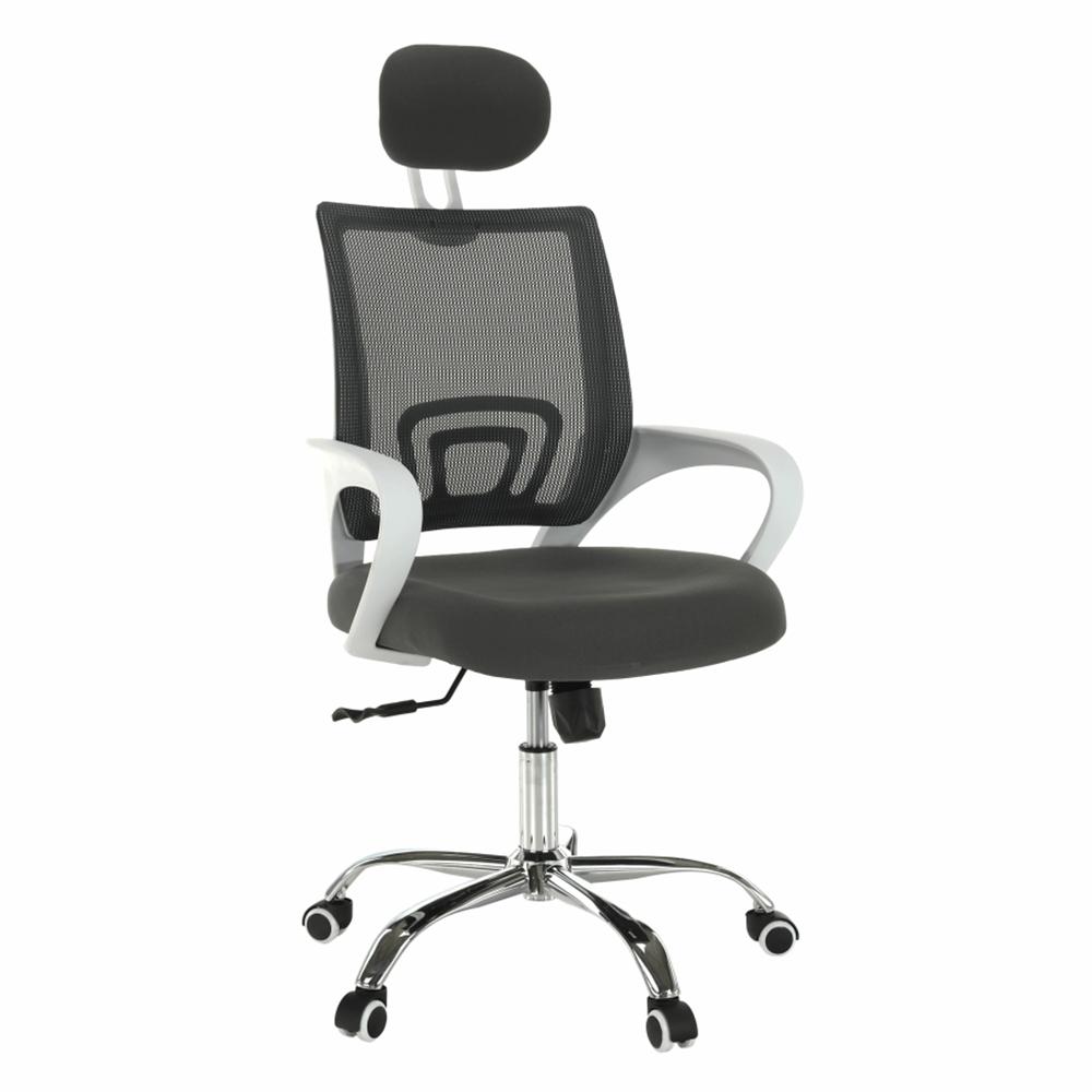 Kancelárske kreslo, sivá/biela, SANAZ TYP 1