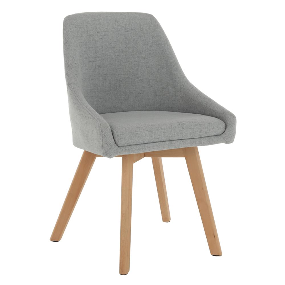 Jedálenská stolička, sivá látka/buk, TEZA