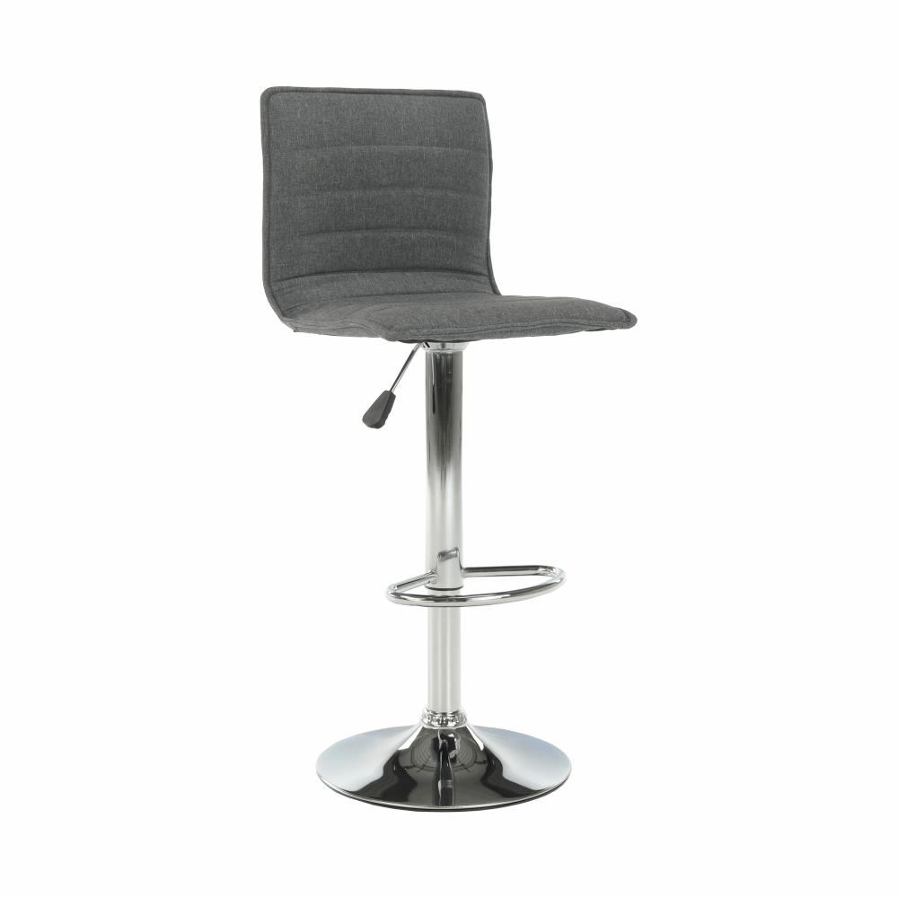 Barová stolička, sivá/chróm, PINAR