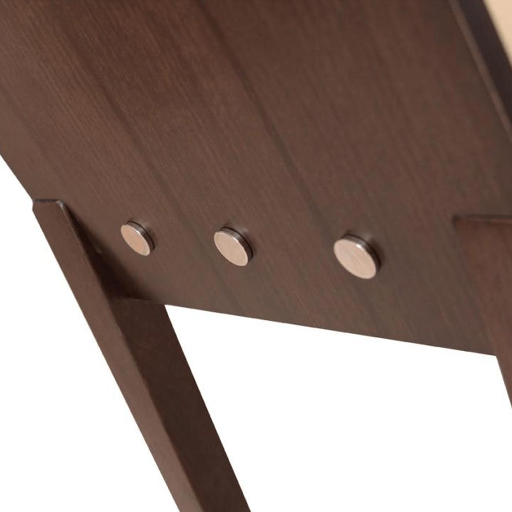 Dřevéná židle, ořech/ekokůže béžová, ABRIL