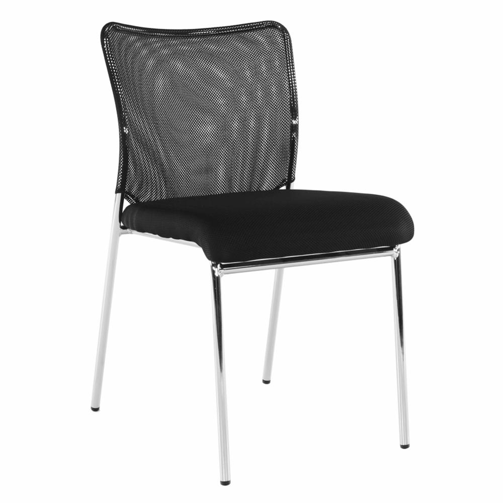 Zasadacia stolička, čierna/chróm, ALTAN