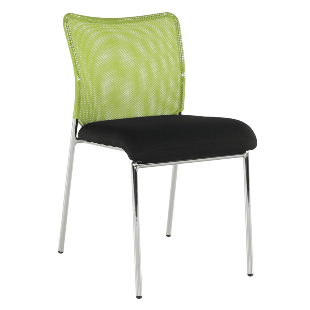 Zasadacia stolička, zelená/čierna/chróm, ALTAN