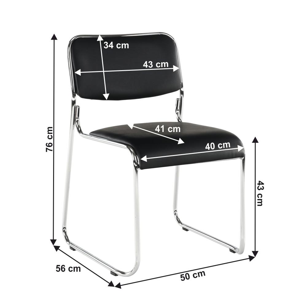 Zasedací židle, černá ekokůže, BULUT
