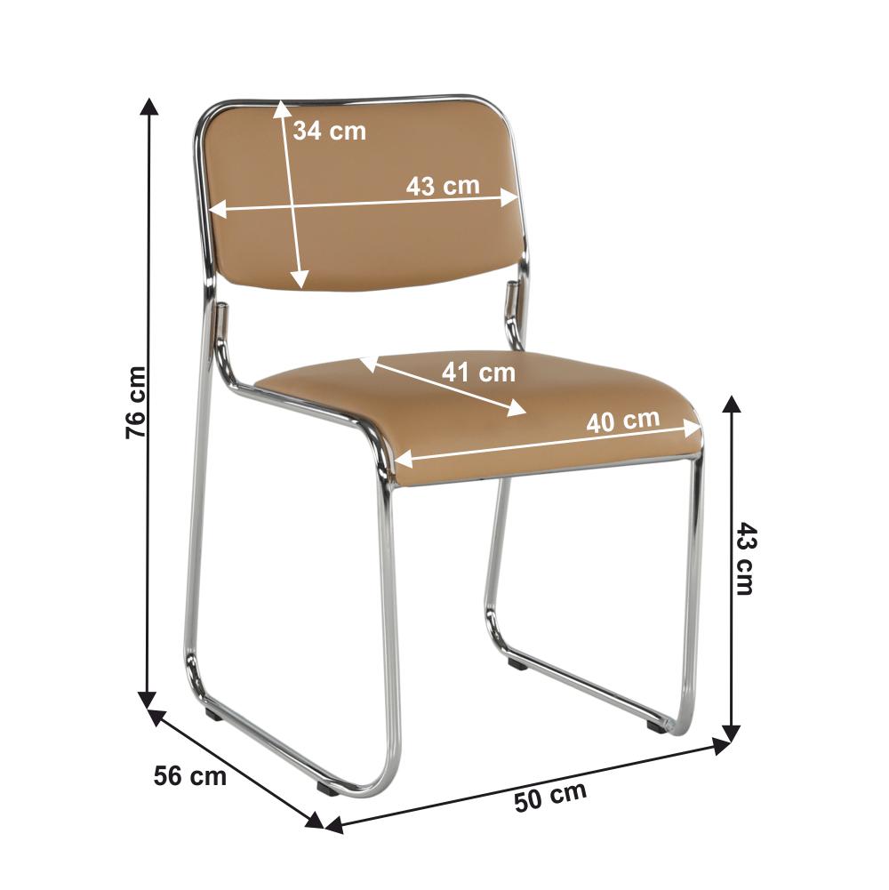 Zasedací stolička, hnědá ekokůže, BULUT