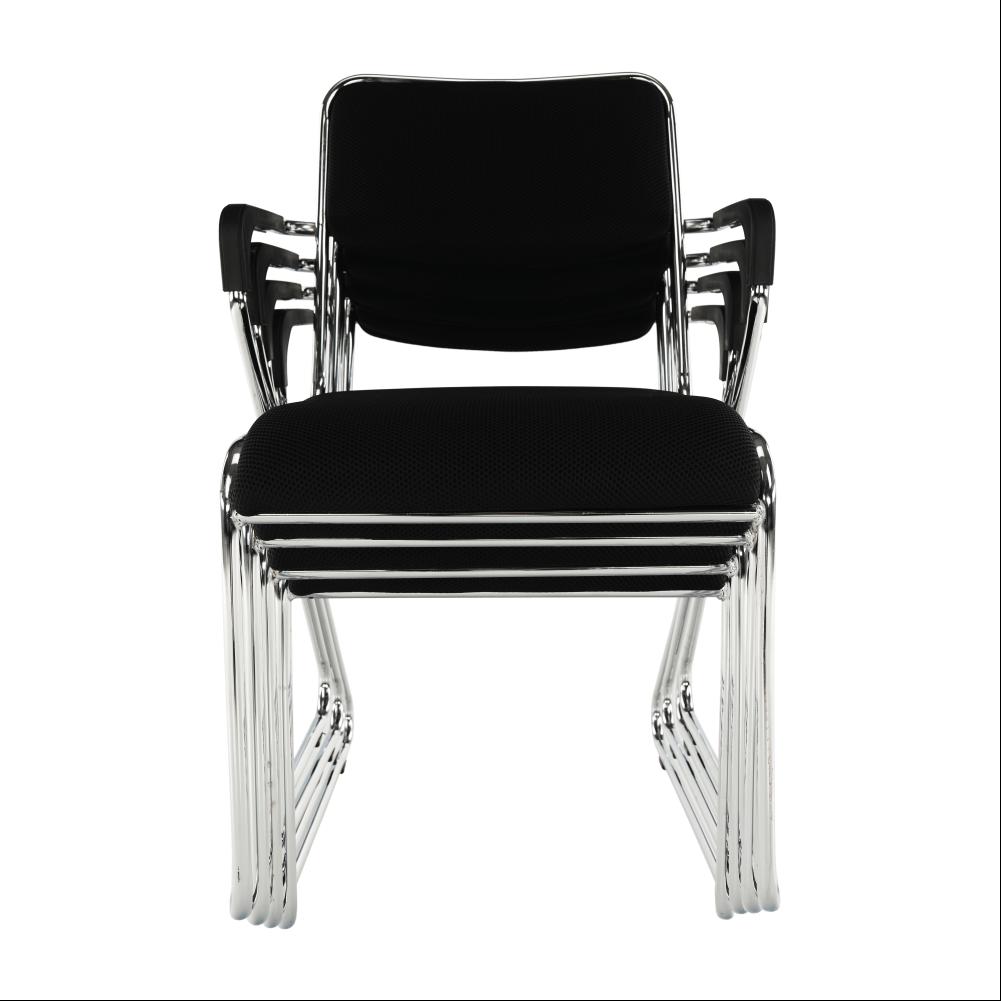 Zasedací židle, černá síťovina, DERYA