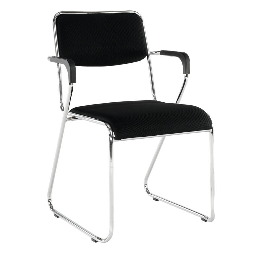 Zasadacia stolička, čierna sieťovina, DERYA