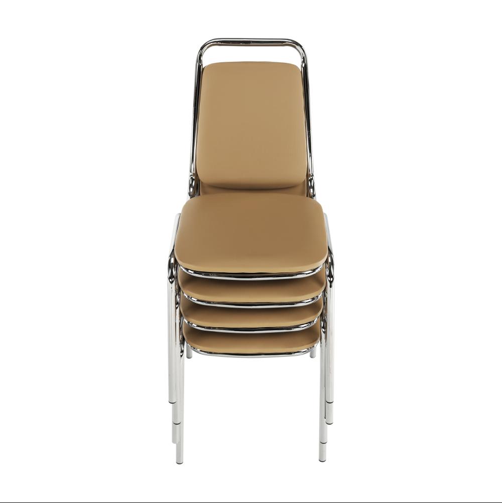 Zasedací stolička, hnědá ekokůže, ZEKI