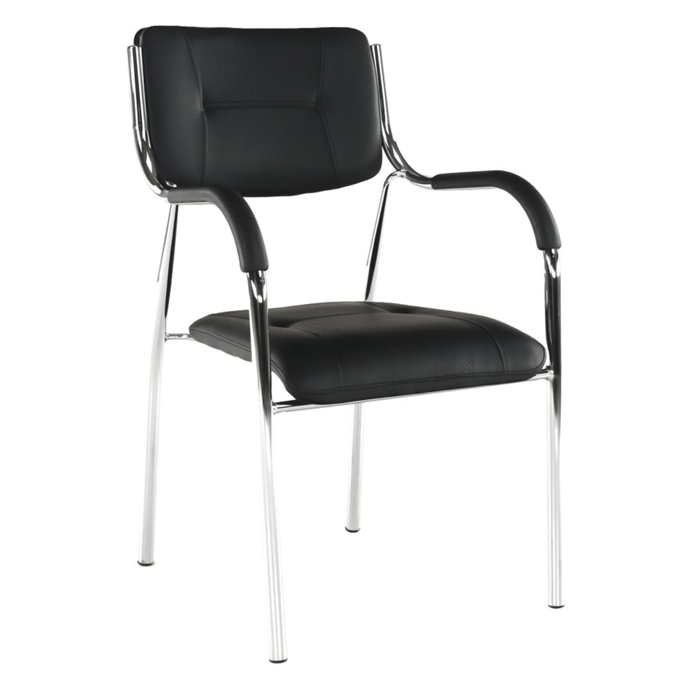 Stohovatelná židle, černá, ILHAM
